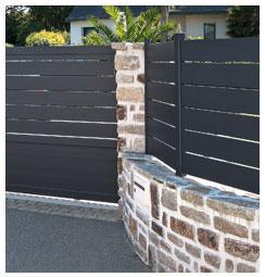 Ensemble clôture et portail aluminium