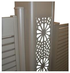 Intégration LED dans le poteau du portail
