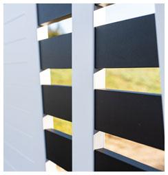 Portail aluminium bicolor par kostum