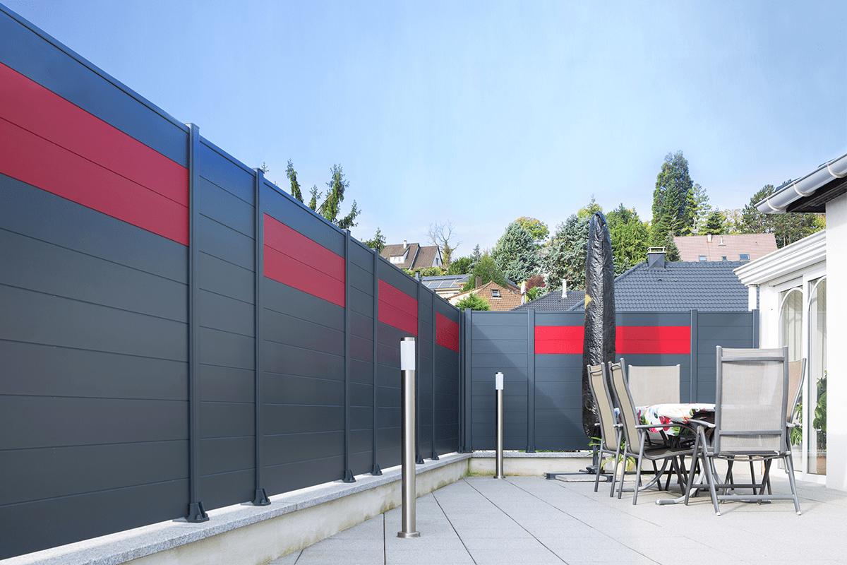 Clôture Briz aluminium contemporain